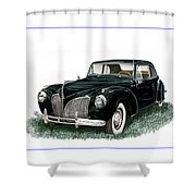 1941 Lincoln Continental Mk 1 Shower Curtain by Jack Pumphrey