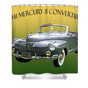 1941 Mercury Eight Convertible Shower Curtain