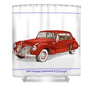 1941 Mk I Lincoln Continental Shower Curtain
