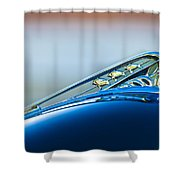 1941 Plymouth Hood Ornament Shower Curtain