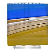 1941 Rambler American Willys Hood Ornament Shower Curtain