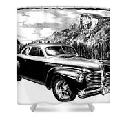 1941 Roadmaster - Half Dome Shower Curtain