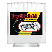 1941 Royal Enfield Motorcycle Ad Shower Curtain
