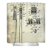 1941 Toothbrush Patent  Shower Curtain