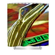 1941 Willys Chopped Gasser Pickup Hood Ornament Shower Curtain