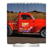 1941 Willys Drag Racing Shower Curtain