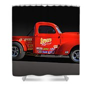 1941 Willys Racer Shower Curtain