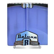 1942 Ford Hood Ornament Shower Curtain by Jill Reger