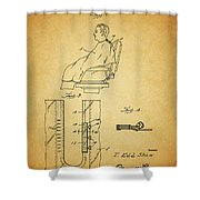 1943 Barber Apron Patent Shower Curtain