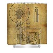 1943 Camera Flash Patent Shower Curtain