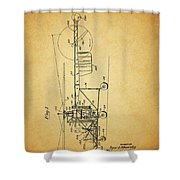 1943 Helicopter Patent Shower Curtain