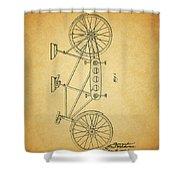 1945 Schwinn Tandem Bicycle Shower Curtain
