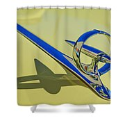 1946 Buick Convertible Hood Ornament 2 Shower Curtain