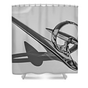 1946 Buick Hood Ornament Shower Curtain