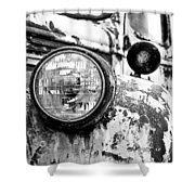 1946 Chevy Work Truck - Headlight Detail Shower Curtain