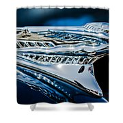 1946 Desoto Hood Ornament Shower Curtain