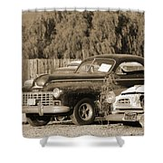 1946 Dodge In Sepia Shower Curtain