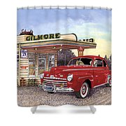 1946 Ford Deluxe Coupe Shower Curtain
