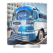 1946 Greyhound Shower Curtain