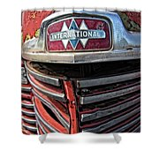 1946 International Harvester Truck Grill Shower Curtain by Daniel Hagerman