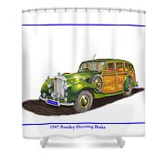 1947 Bentley Shooting Brake Shower Curtain