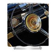 1947 Buick Eight Super Steering Wheel Shower Curtain