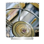 1947 Buick Roadmaster Steering Wheel Shower Curtain