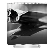 1947 Cadillac Hood Ornament 2 Shower Curtain