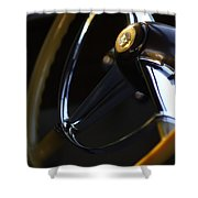 1947 Cadillac Model 62 Coupe Steering Wheel Shower Curtain