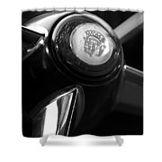 1947 Cadillac Steering Wheel Shower Curtain