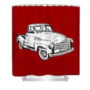1947 Chevrolet Thriftmaster Pickup Illustration Shower Curtain