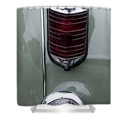 1947 Chrysler Tail Lights Shower Curtain