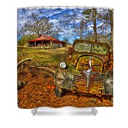 1947 Dodge Dump Truck Country Scene Art Shower Curtain