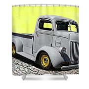 1947 Ford Cab Over Engine Truck Shower Curtain