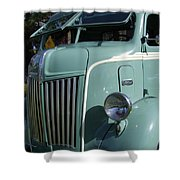 1947 Ford Cab Over Truck Shower Curtain
