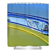1947 Ford Super Deluxe Hood Ornament 2 Shower Curtain
