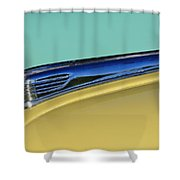 1947 Ford Super Deluxe Hood Ornament Shower Curtain