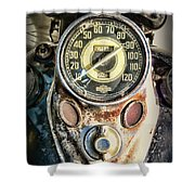 1947 Knucklehead Speedometer Shower Curtain