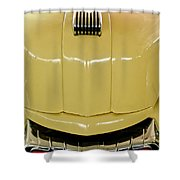 1947 Mercury Convertible Hood Ornament Shower Curtain