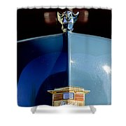 1947 Nash Suburban Hood Ornament 2 Shower Curtain
