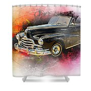 1947 Pontiac Convertible Photograph 5544.08 Shower Curtain