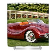 1948 Buick Streamliner Shower Curtain