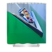 1948 Cadillac Emblem Shower Curtain