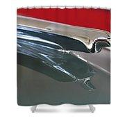 1948 Cadillac Series 62 Hood Ornament Shower Curtain