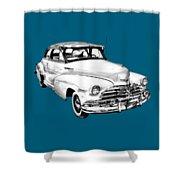 1948 Chevrolet Fleetmaster Antique Car Illustration Shower Curtain