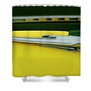 1948 Chevrolet Fleetmaster Hood Ornamnet Shower Curtain