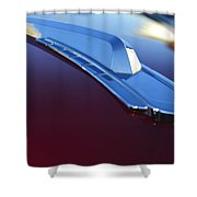 1948 Chevrolet Pickup Hood Ornament Shower Curtain
