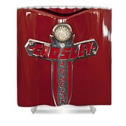 1948 Crosley Convertible Emblem Shower Curtain