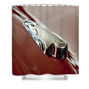 1948 Crosley Convertible Hood Ornament Shower Curtain