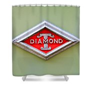 1948 Diamond T Emblem -ck0879c Shower Curtain